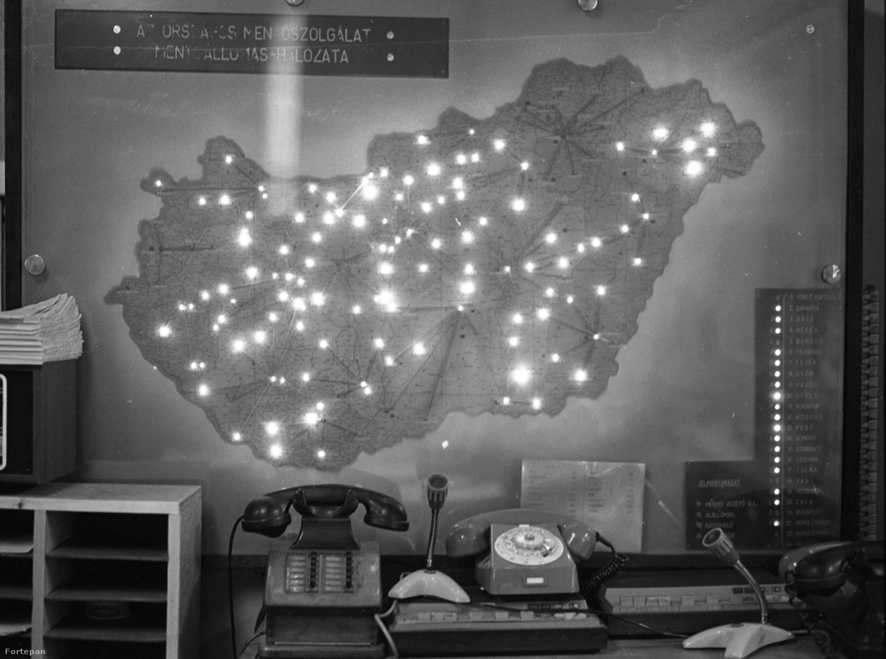 Az Országos Mentőszolgálat mentőállomás-hálózata, 1983.