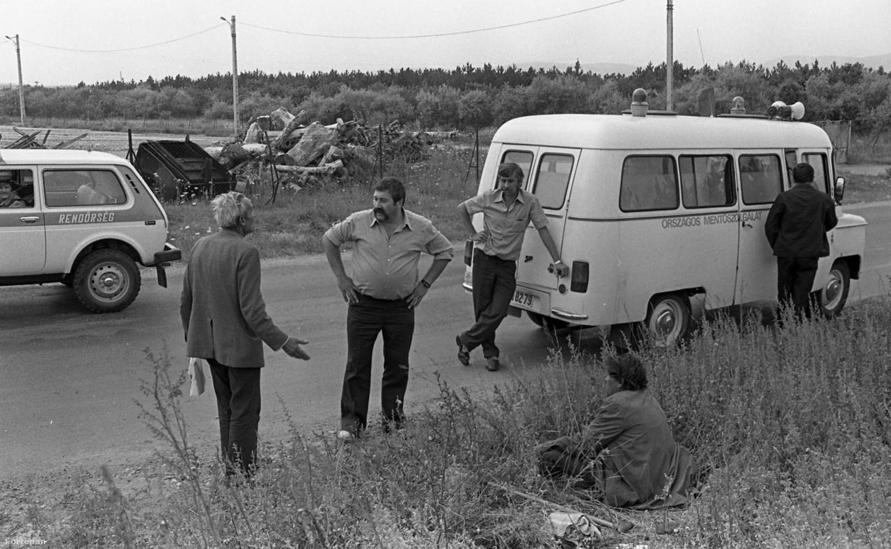 Részeg az árokparton Veszprém megyében, 1986.