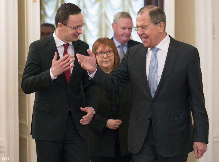 Szíjjártó Péter magyar, és Szergej Lavrov orosz külügyminiszter találkozója 2017. január 23-án Moszkvában