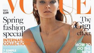 Gigi Hadid lába átment kitekert plasztikba, így rakták a brit Vogue címlapjára