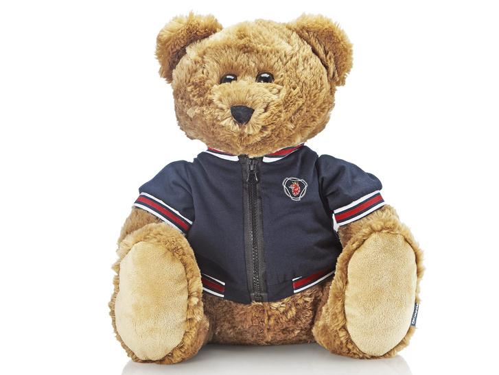 Teddy mackó kék Scania dzsekiben