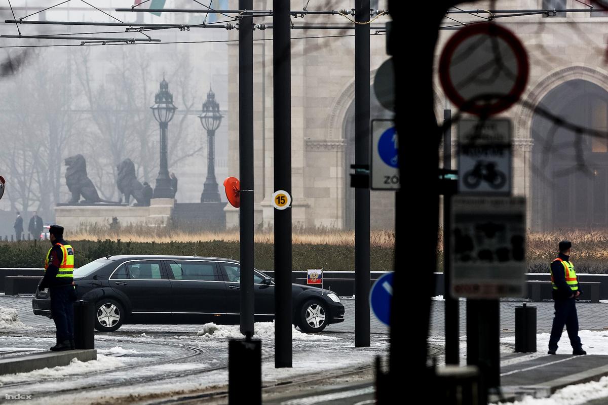 Putyin Pullman Guardja 2017. február 2-án Budapesten