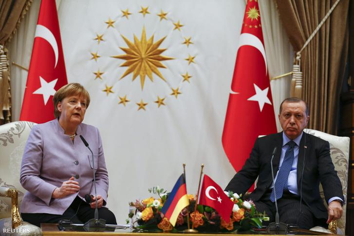 Angela Merkel és Recep Tayyip Erdogan ankarai megbeszélése