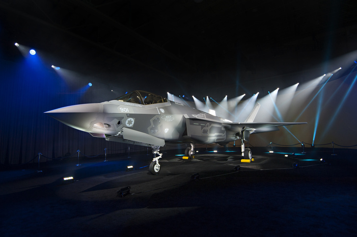 Az izraeli légierőnek eladott első F-35A-t tavaly júniusban mutatták be