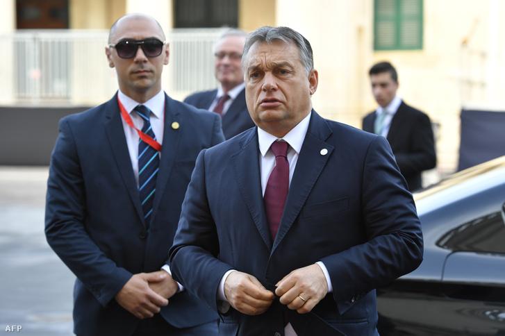 Orbán Viktor a máltai EU-csúcson