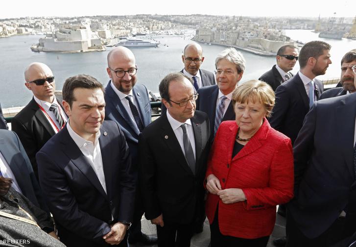 Az EU állam- és kormányfői Máltán