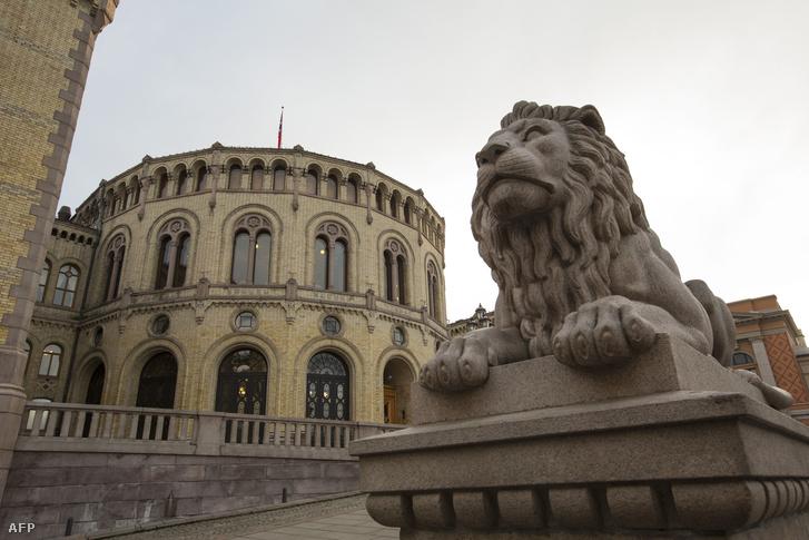 A norvég parlament épülete Oslóban