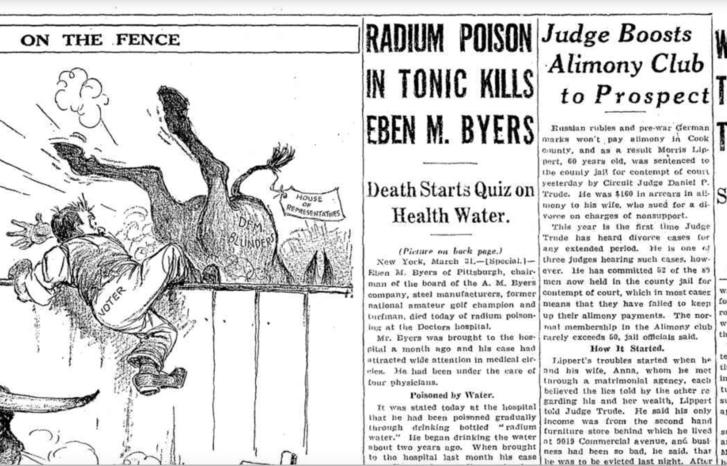 Az 1932. március 1-i Chicago Tribune egyik címlapsztorija