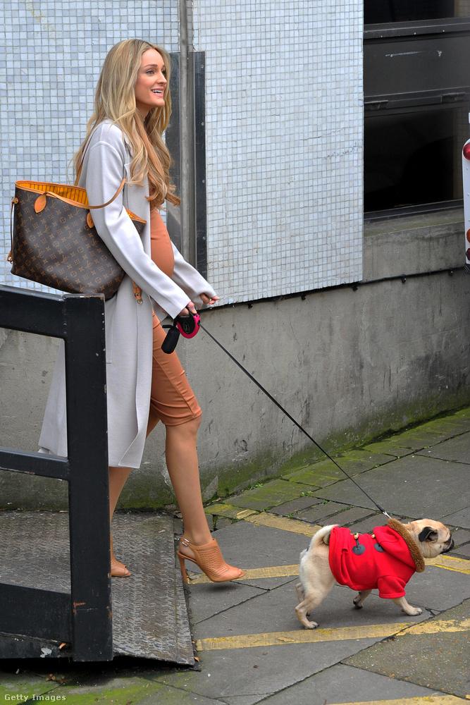 Egyelőre ez a kutya köti le a szeretet-vegyértékeiket, de néhány hónap, és a kis mopsznak osztoznia kell egy nála sokkal szebb lénnyel Keatingék szívében.