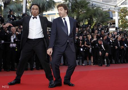 Alejandro González Inárritu és Javier Bardem Cannes-ban