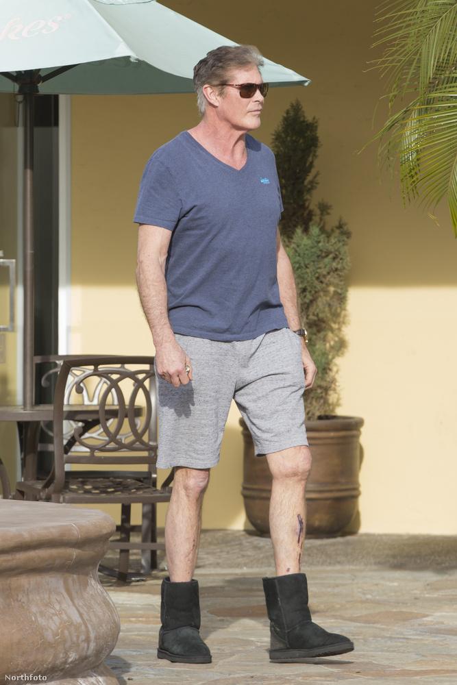 David Hasselhoffról is, aki elég furán öltözött fel a héten.