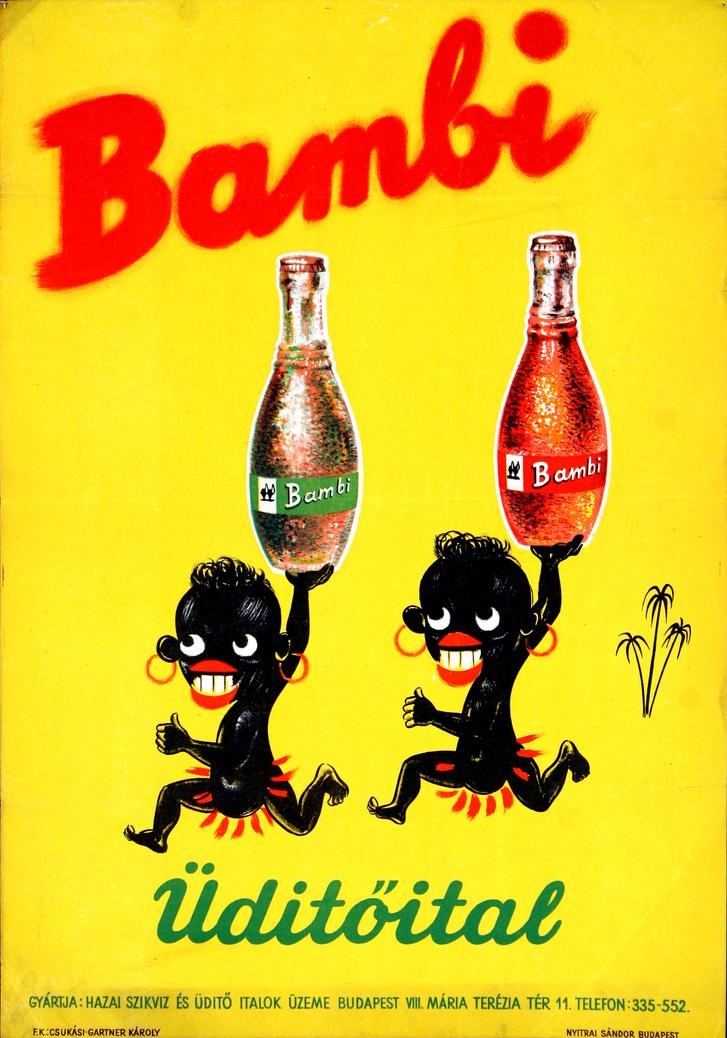A Bambi enyhén rasszista reklámplakátja a negyvenes, ötvenes évekből