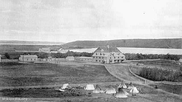 Qu'Appelle Indian Ipari Iskola, Lebret, District of Assiniboia, 1885 körül