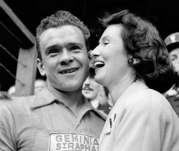 Roger Walkowiak az 1956-os győzelem után