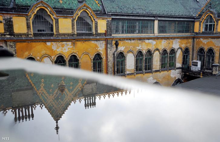 Omladozó homlokzat az Iparművészeti Múzeum épületén