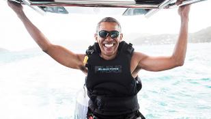 Barack Obama nyaralós fotójából máris mém lett