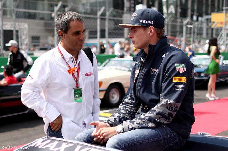 Montoya és Verstappen tavaly, a Mexikói GP-n