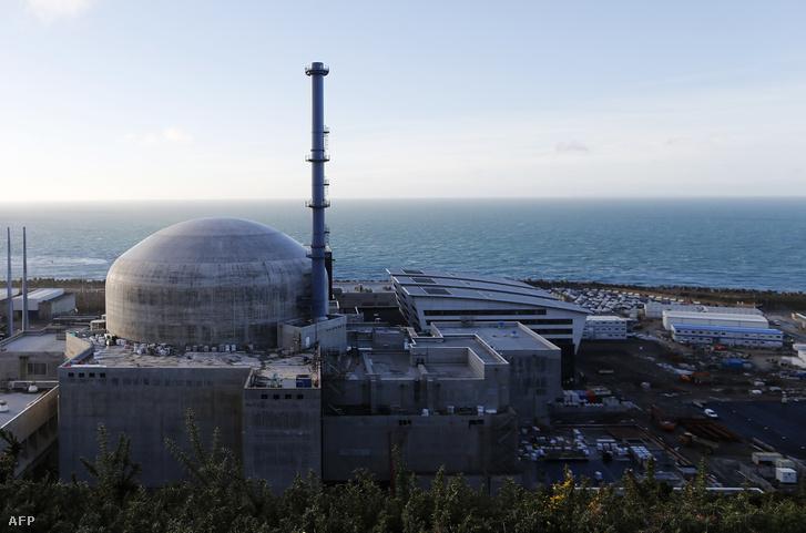 A Flamanville-i atomerőmű épülete (2016.)