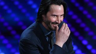 Éveket vártunk arra, hogy Keanu Reevest végre nevetni lássuk