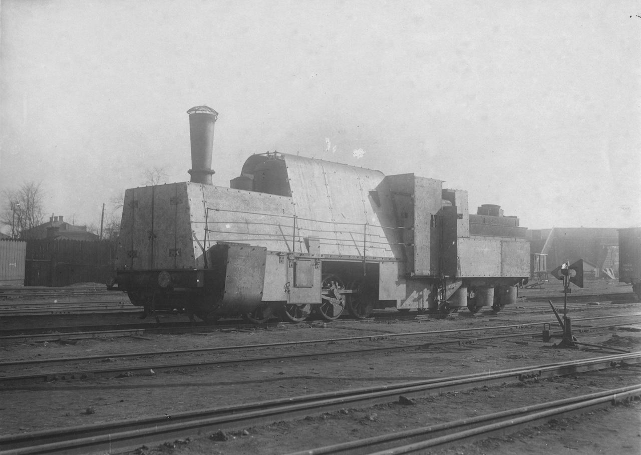 Német páncélvonat mozdonya, 1918.