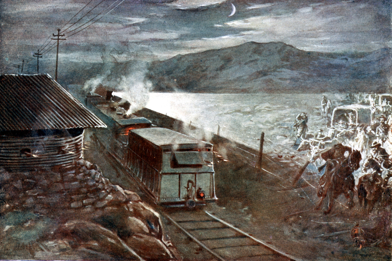 1899: harcoló páncélvonat a 2. búr háborúban.