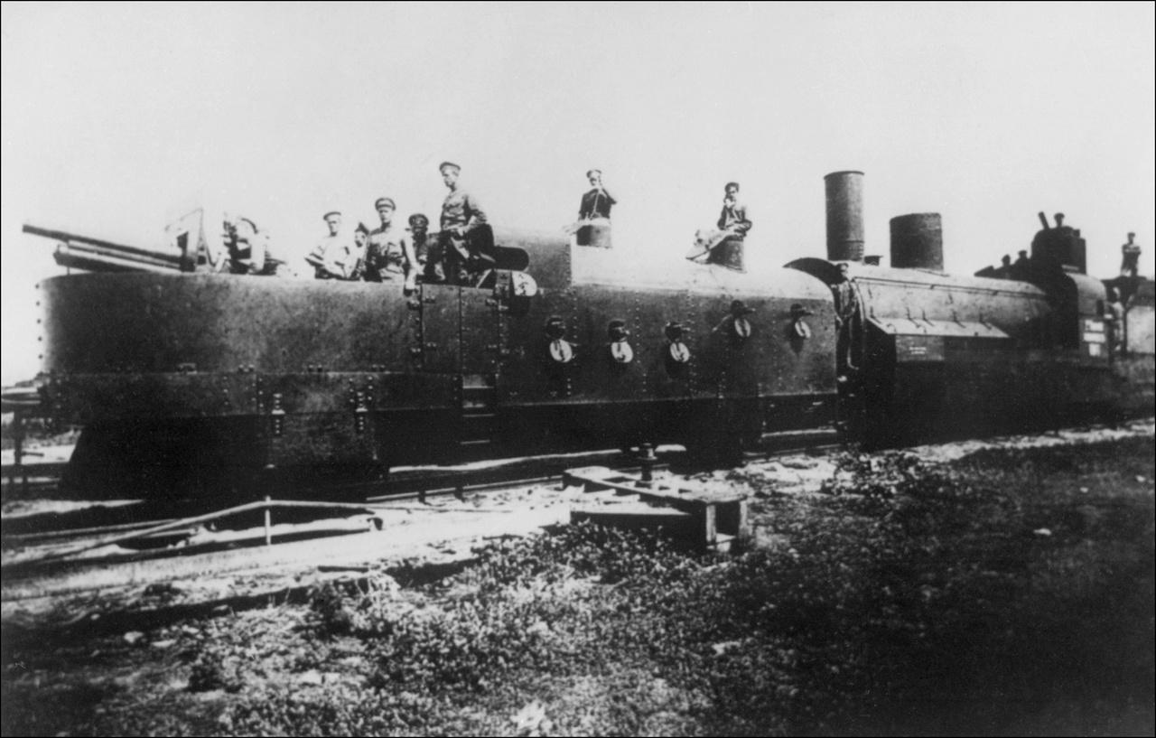1918: bolsevik páncélvonat Szibériában, a polgárháború kezdetén