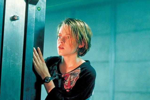 A színésznő 12 évesen, a Pánikszoba forgatásán.