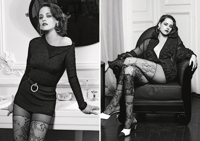 A Chanel kreatív igazgatója, Karl Lagerfeld fotózta a színésznőt.