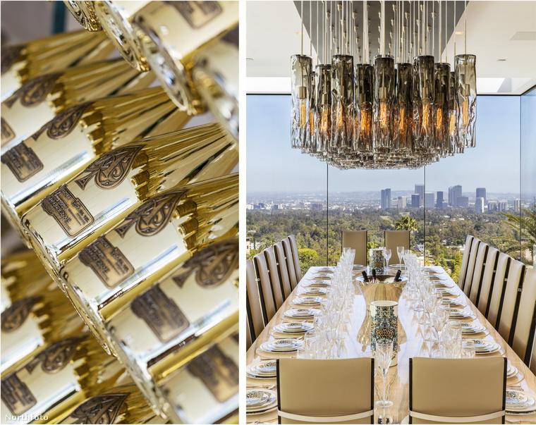De egy menő ebéd, vagy vacsora is kiválóan szervezhető az asztal köré, a feltöltött pezsgőkészlet az árban van.