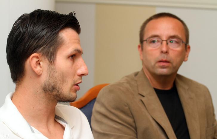 Rudolf Gergely és Leisztinger Tamás sajtótájékoztatója 2012. szeptember 13-án, amikor bejelentették hogy a diósgyőri csapat szerződést kötött a válogatott játékossal.