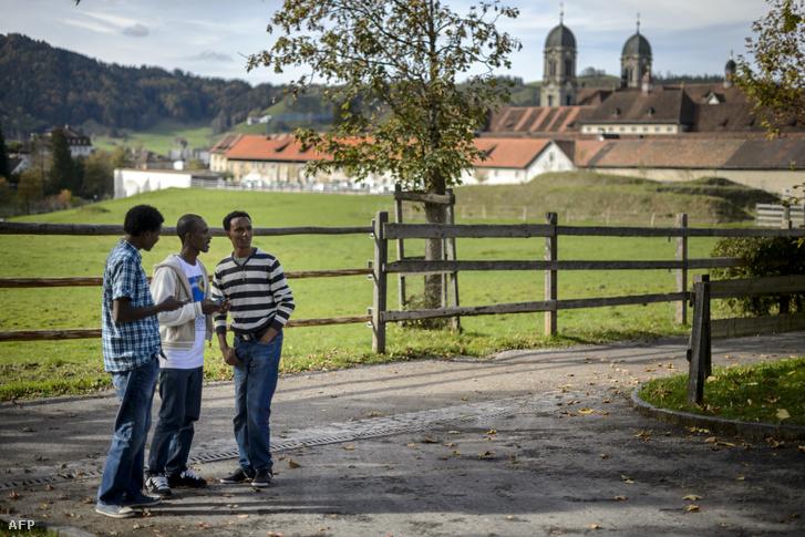 Eritreai menekültek egy svájci kantonban