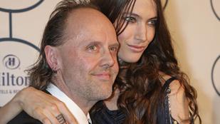 Lars Ulrich és modell felesége között nemcsak évek, hanem centik is vannak szép számmal