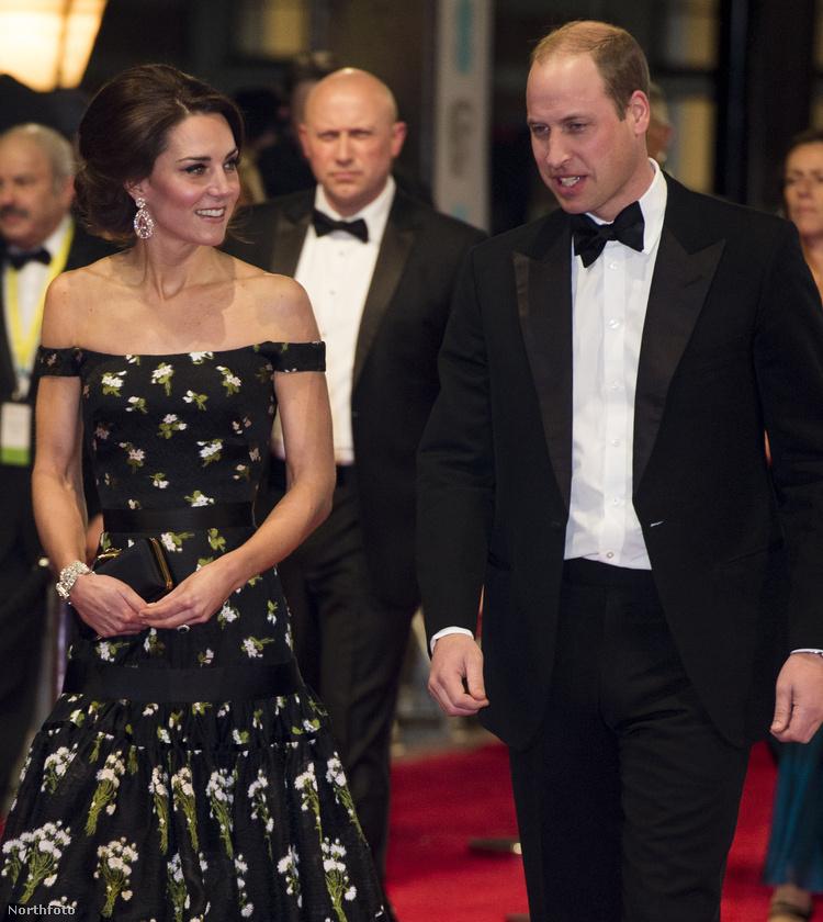 A britek Oscar-díját, a BAFTA gálát a Grammyvel nagyjából egy időben tartották Londonban, Katalin hercegné pedig Hollywoodhoz méltóan lépett a vörös szőnyegre férjével, Vilmos herceggel.