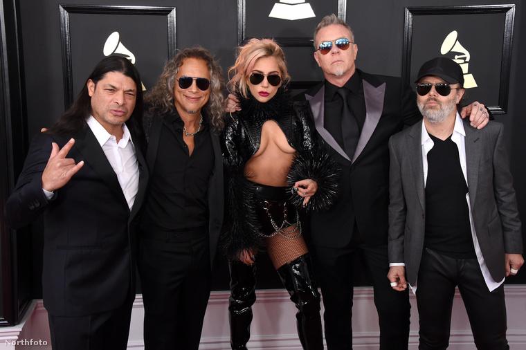 Nyilvánvaló volt Lady Gaga célja: egyszerűen csak passzolni akart a Metallica tagjaihoz, de kicsit mellément ez a szerelés.