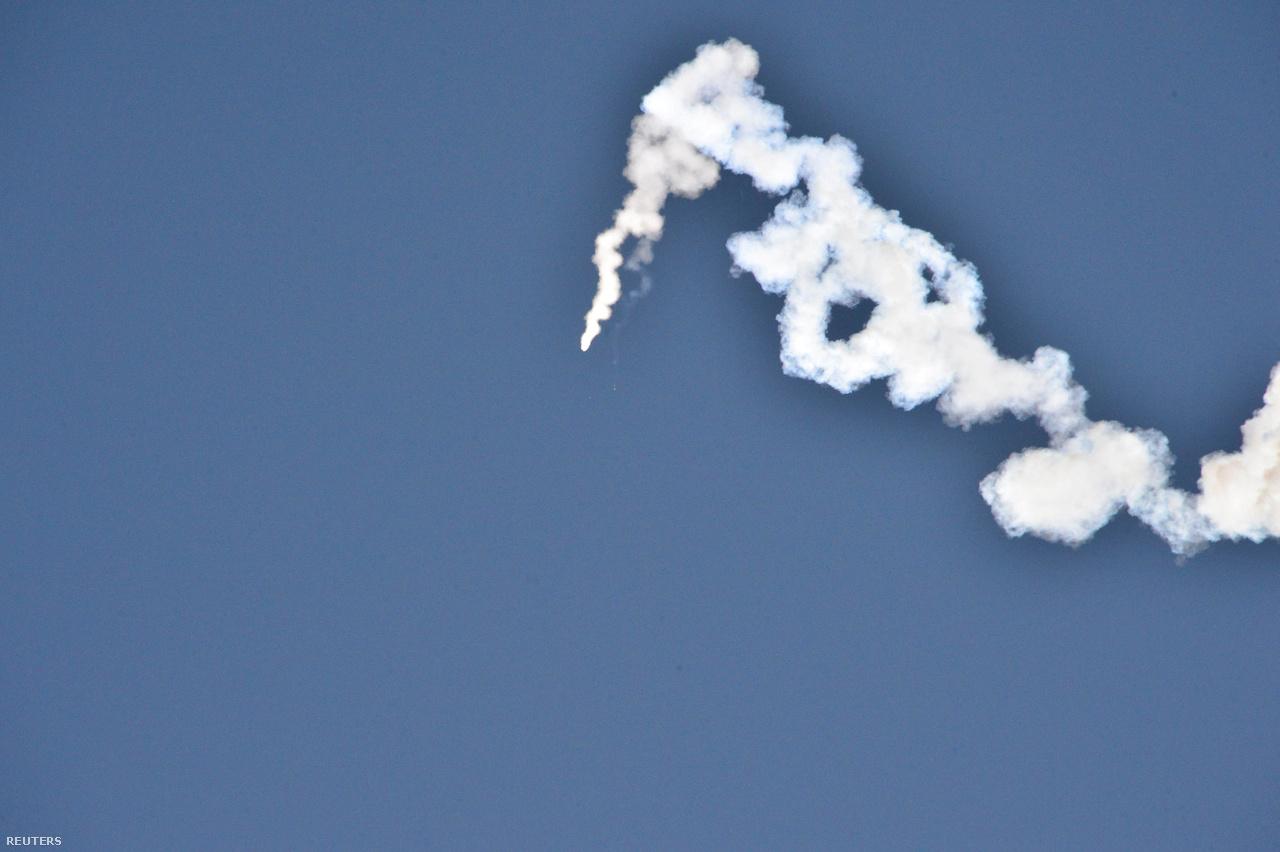 Az észak-koreai ballisztikus rakéta tesztje, 2017. február 13-án.