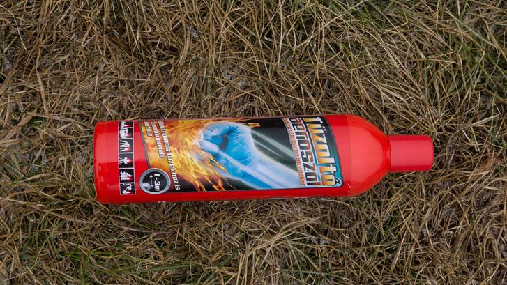 Hivatalosan nem  tűzoltókészülék, konyhába nem jó, mert vízbázisú. Talán kiránduláskor a maradék parazsat lefújni alkalmas.                          2125 Ft