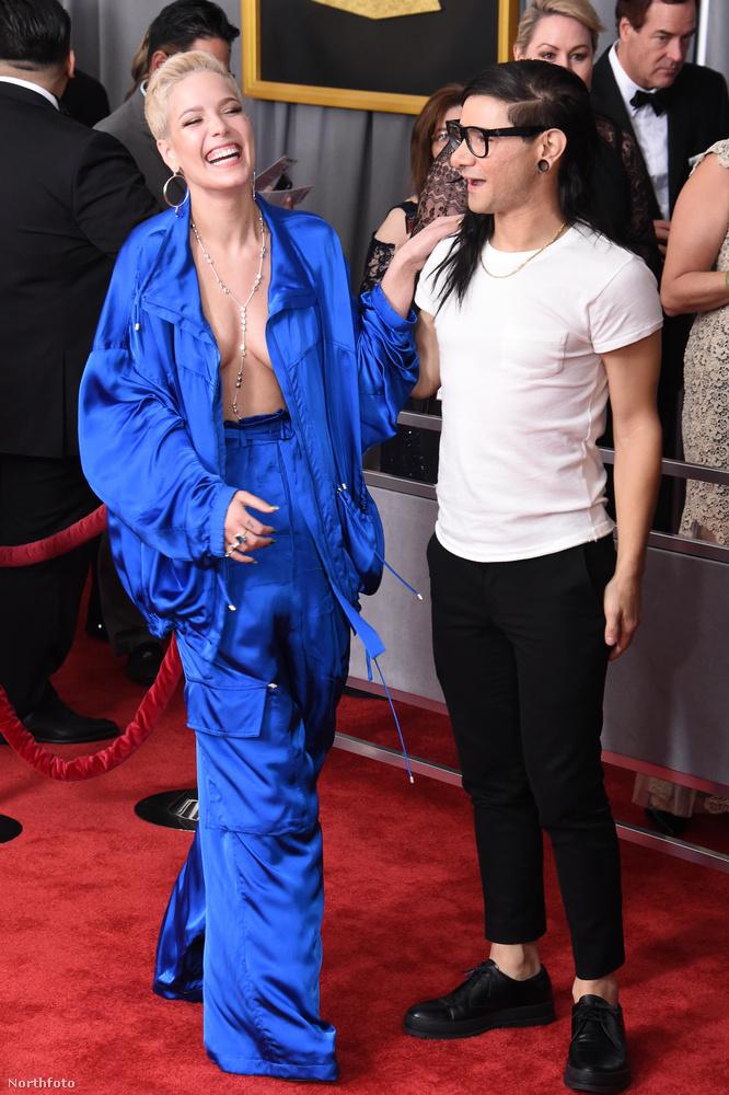 Halsey és Skrillex                         Na jó, róluk már hallott, de meg kell őket is mutatnunk: a többiekhez képest teljesen máshogy öltöztek, ez is mutatja, hogy megérkezett az új generáció.                         Az MTV VMA kapcsán is foglalkoztunk a feltörekvő sztárokkal, itt olvashat róluk tovább