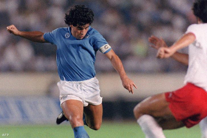 Maradona a Nápoly színeiben
