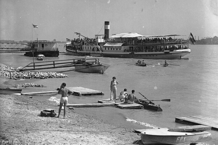 Vízi élet Római-parton 1938-ban