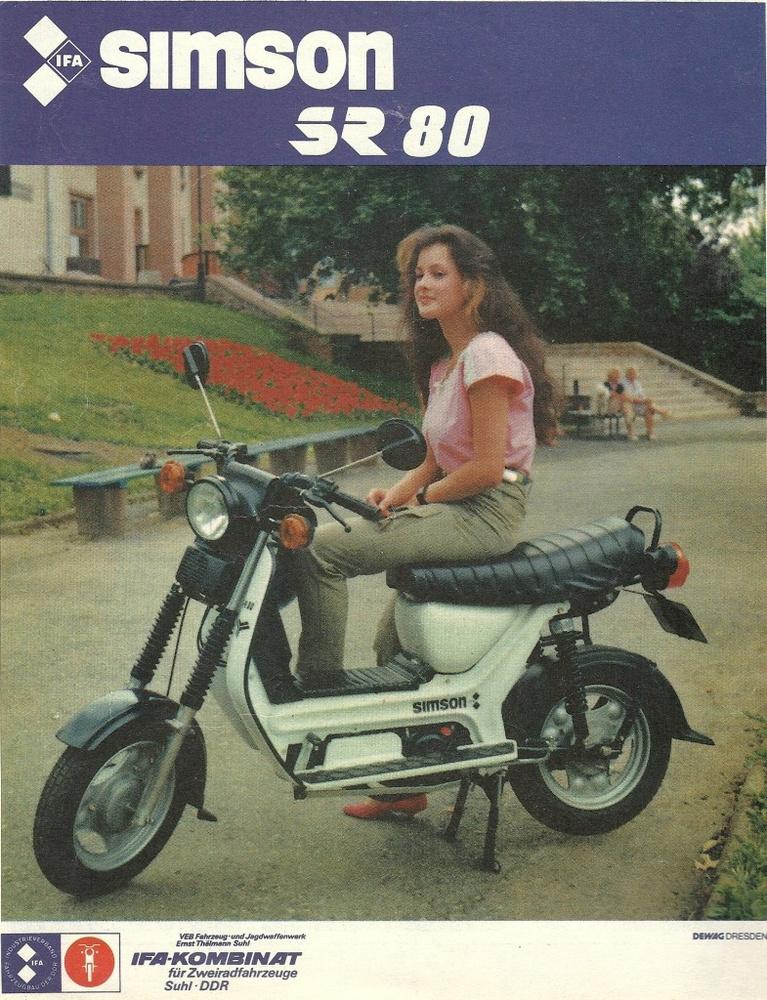 Az SR robogókat a nyolcvanas évek közepén vitték gyártásba