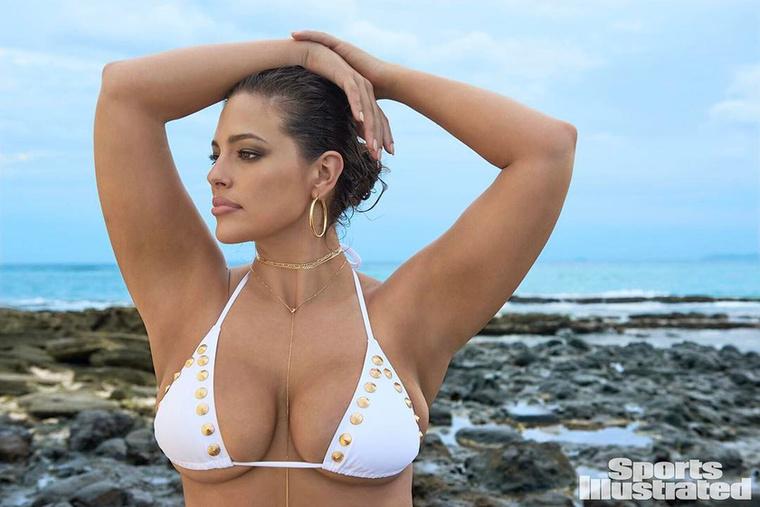 Ashley Graham plus size modell tavaly a Sports Illustrated fürdőruhás kiadásának címlapján robbant be a köztudatba