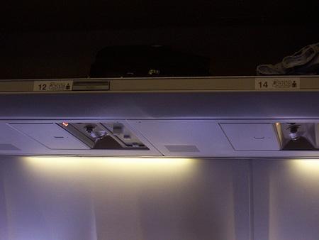 A Continental Airlines légitársaság egyik gépe. Nincs 13. sor.