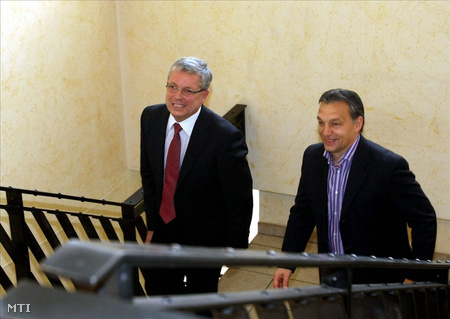 Matolcsy György és Orbán Viktor