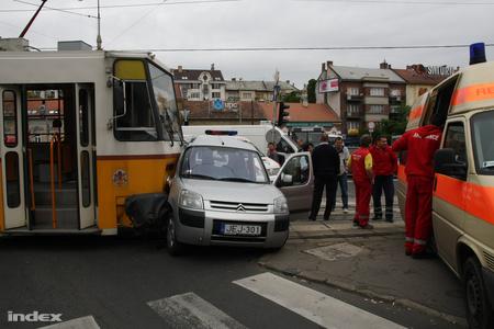 Olvasónk, Bánkos Lehel felvétele a balesetről