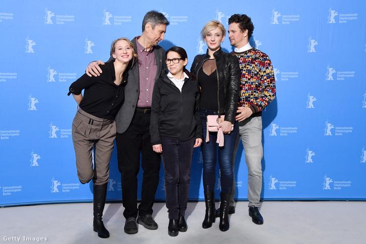 A Testről és lélekről című magyar film stábja a Berlinalén