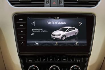 Az autóról is kaphatunk információkat, akár az okostelefonunkra telepített applikáción keresztül is