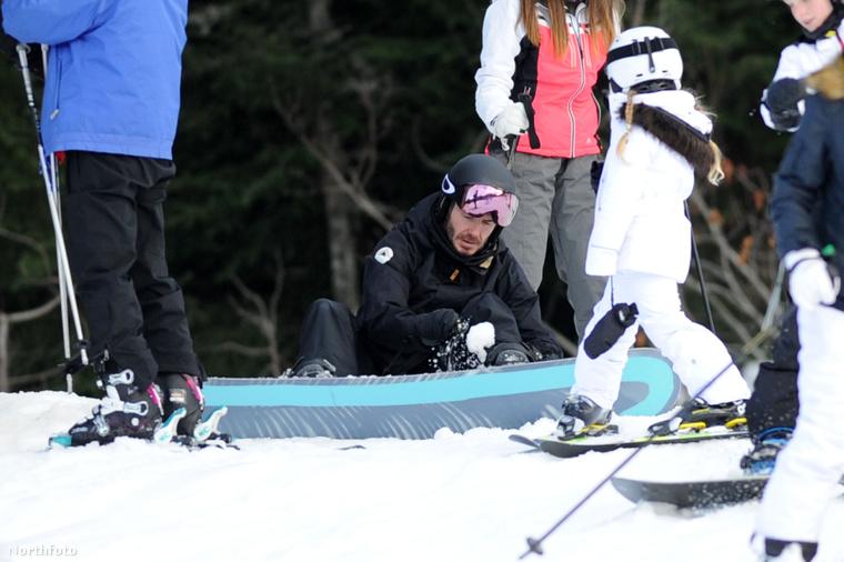 Egyedül Harper Seven Beckham tudja, ki az, aki a snowboardot felcsatolja