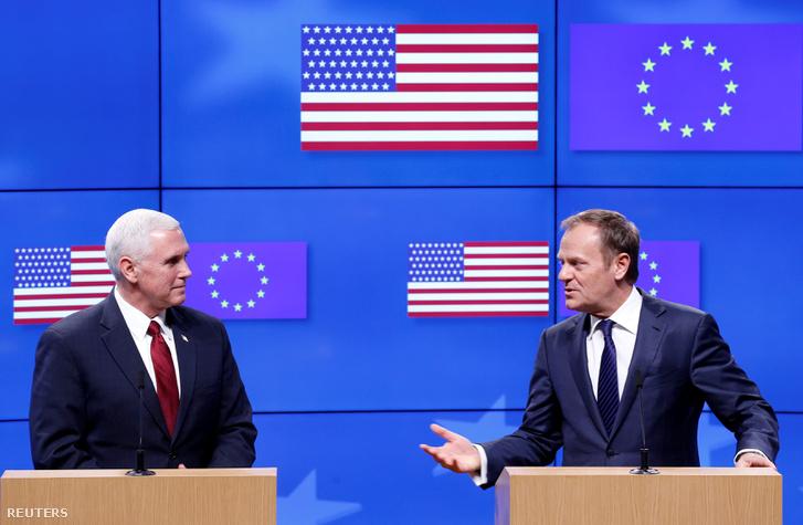 Pence és Tusk a mai közös sajtótájékoztatón