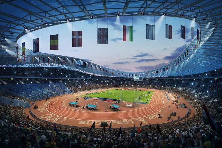Olimpiai Stadion - Atlétika versenyszámok                         Látványtervek: Brick Visual