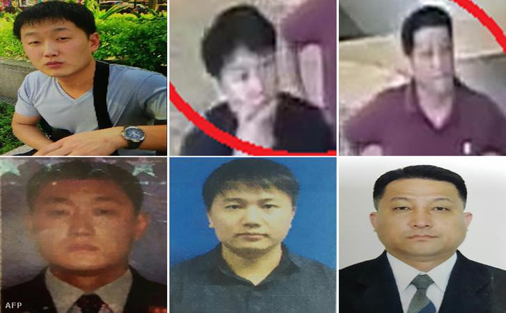 A gyilkosság miatt körözött személyek fotói.
